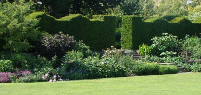 Bourton House Garden has wide herbaceous borders and beautiful hedges