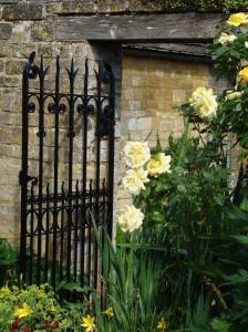Old walls and Roses at Bourton House